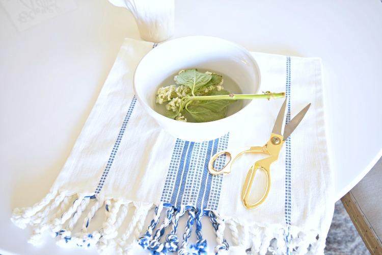 soaking hydrangea stem