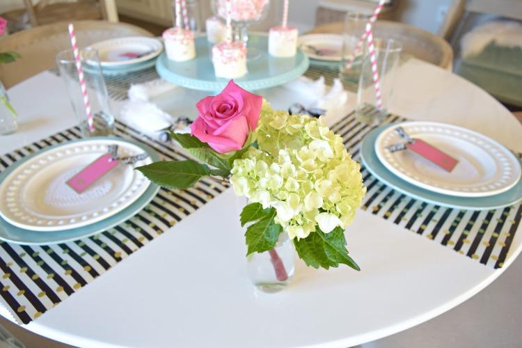 valentines pink rose hydrangea