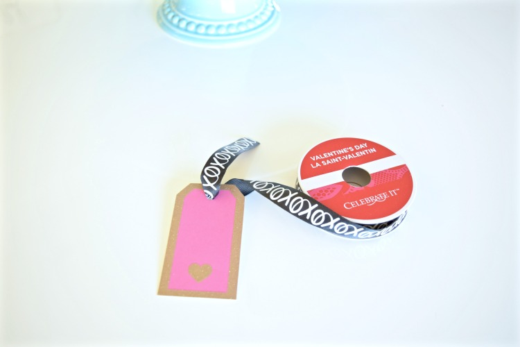 valentines ribbon place card
