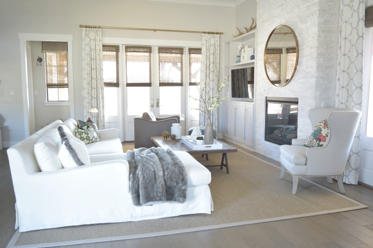White Transitional Living Room Zdesignathome