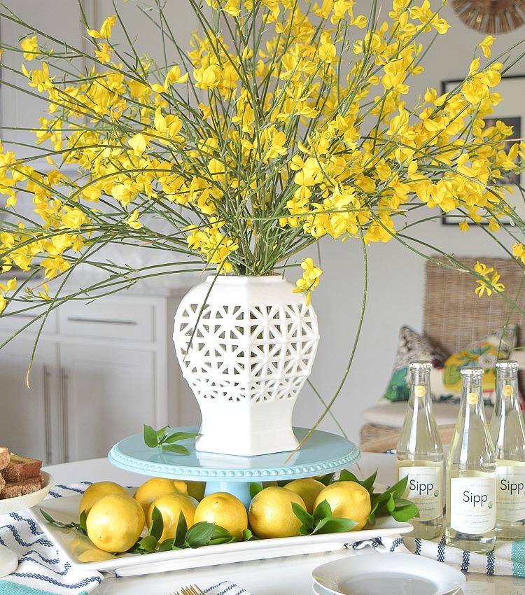 Spring Brunch Entertaining & A White Vase Challenge