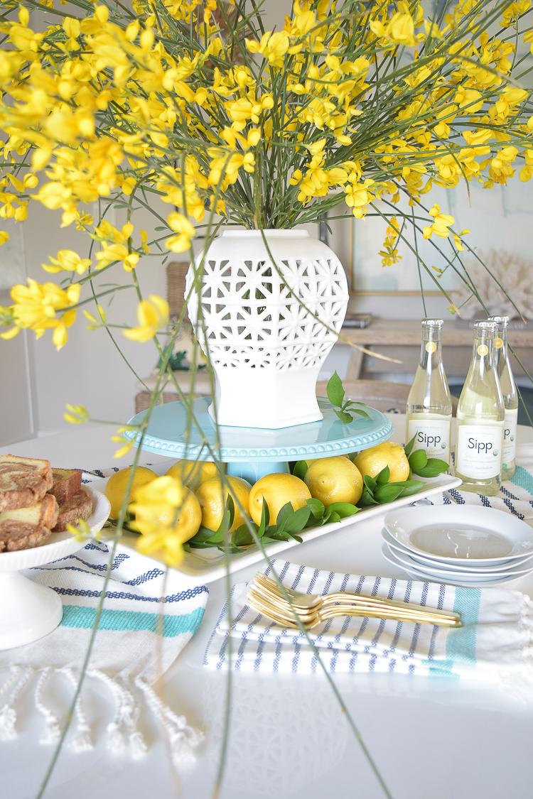 Spring Brunch Entertaining & A White Vase Challenge | ZDesign At Home