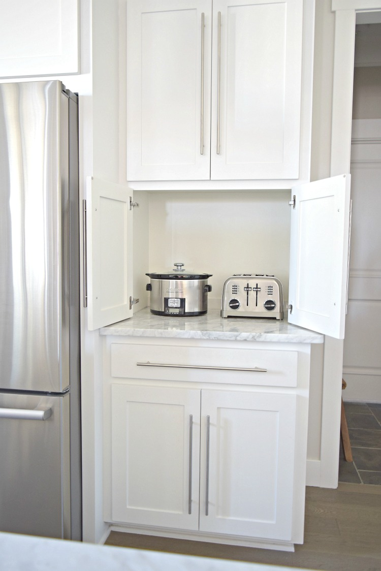 Carrara Marble White Cabinet Kitchen