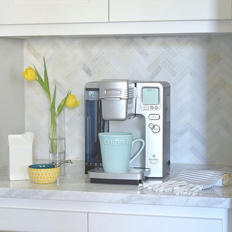 Herringbone Tile Kitchen Backsplash