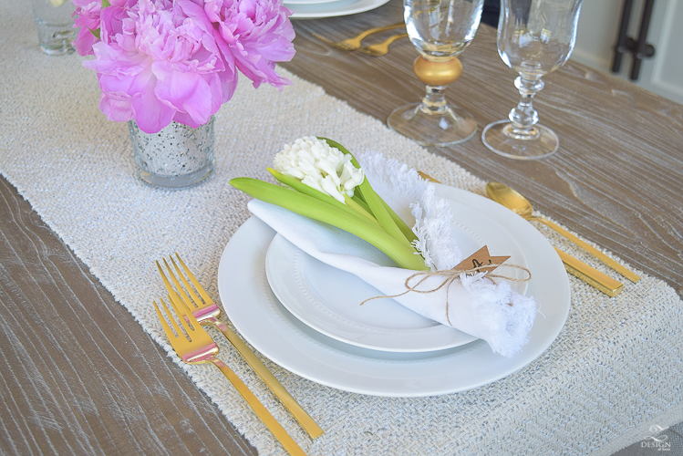 casual elegant mothers day table scape hyacinth alstromeria pink peonies-16