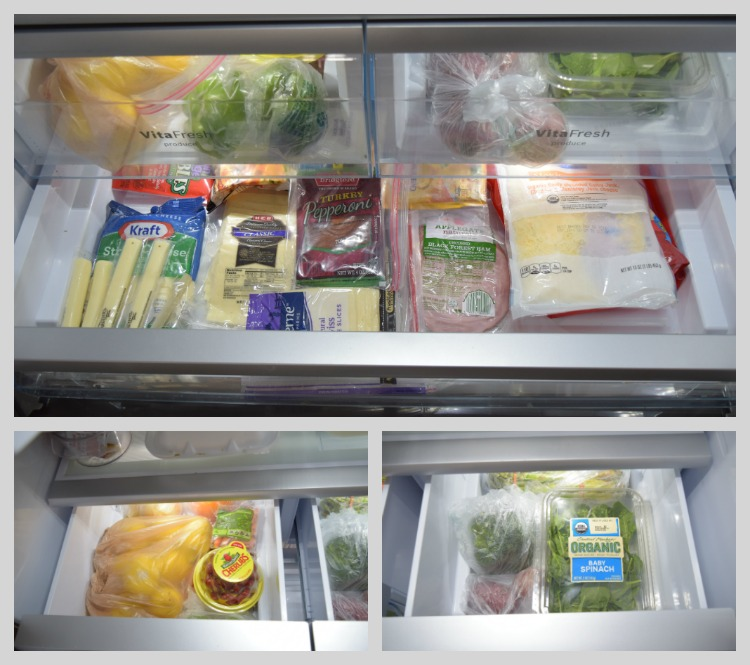 Organized Refrigerator Collage Before2