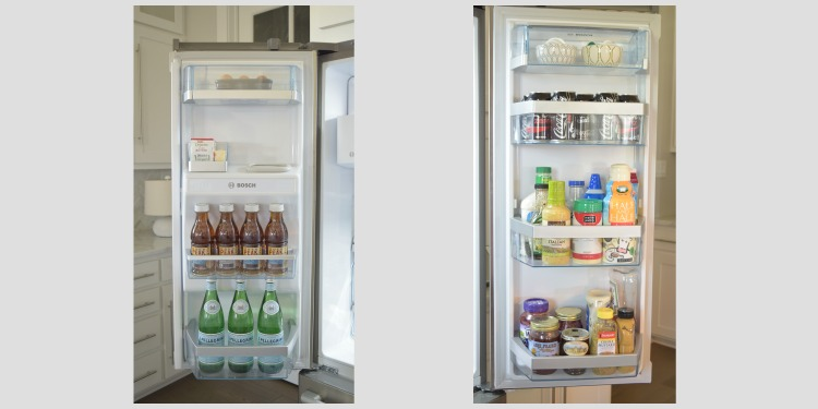 Organized Refrigerator Doors After
