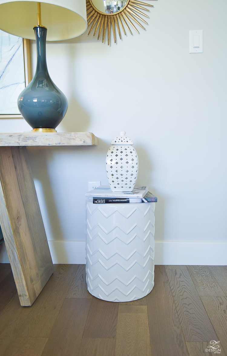 White Chevron Garden Stool Styling tips-3