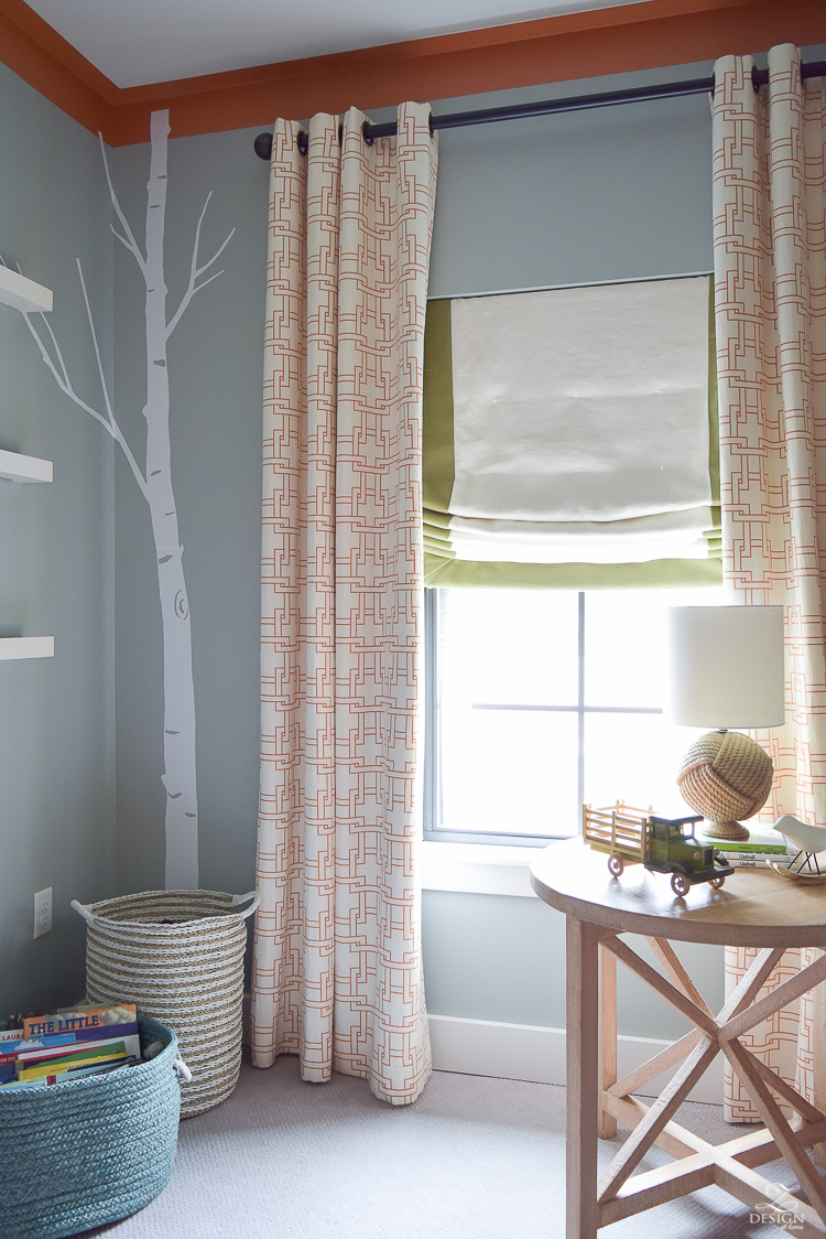 How to know when to use what curtains in what room + young boys bedroom design