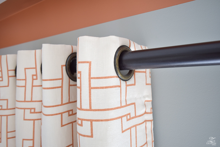 kravet city squares linen custom curtains in orange how to know when to use what curtains PB Essential curtain rod-5