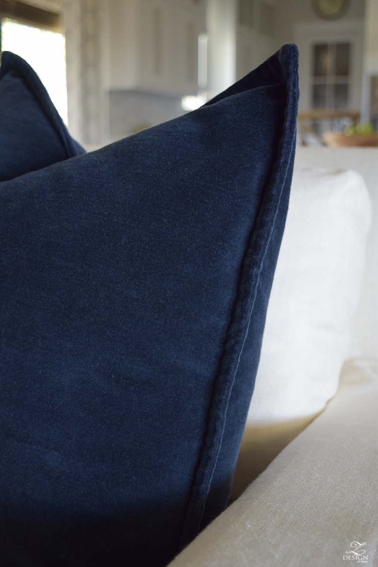 Navy velvet how to make a great pillow1