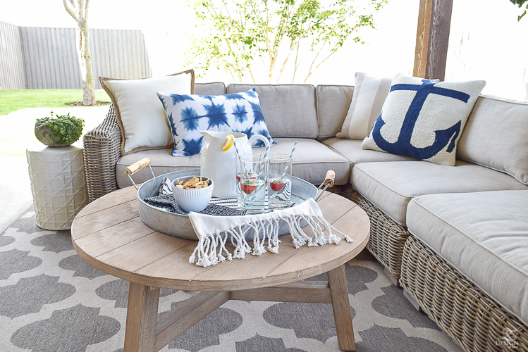 Pottery Barn indooroutdoor pillows outdoor entertaining