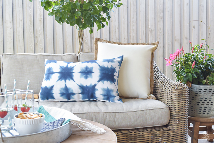 Restoration hardware provence sectional couch pottery barn outdoor pillows