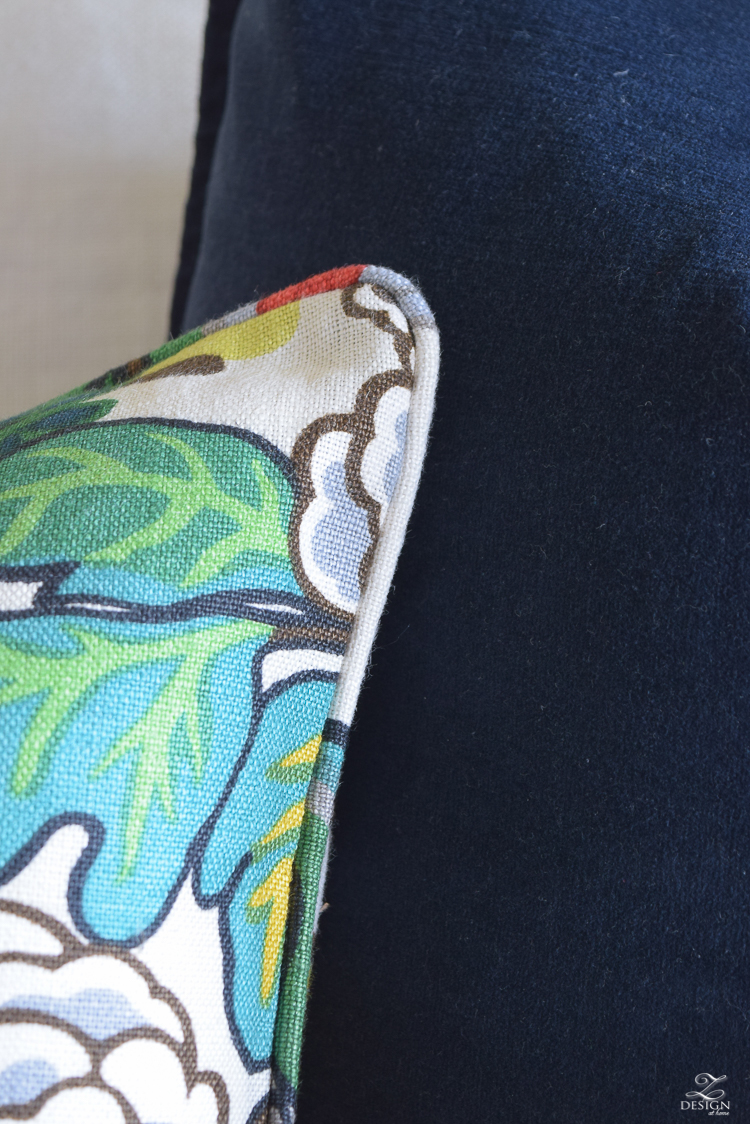 Schumacher Chiang Mai Dragon Fabric for Perfect Pillows-4