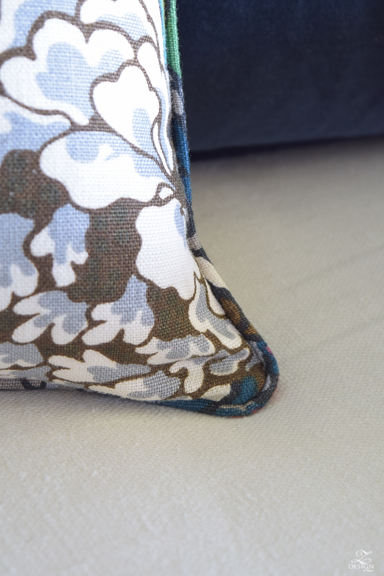 Schumacher Chiang Mai Dragon Fabric for Perfect Pillows-5