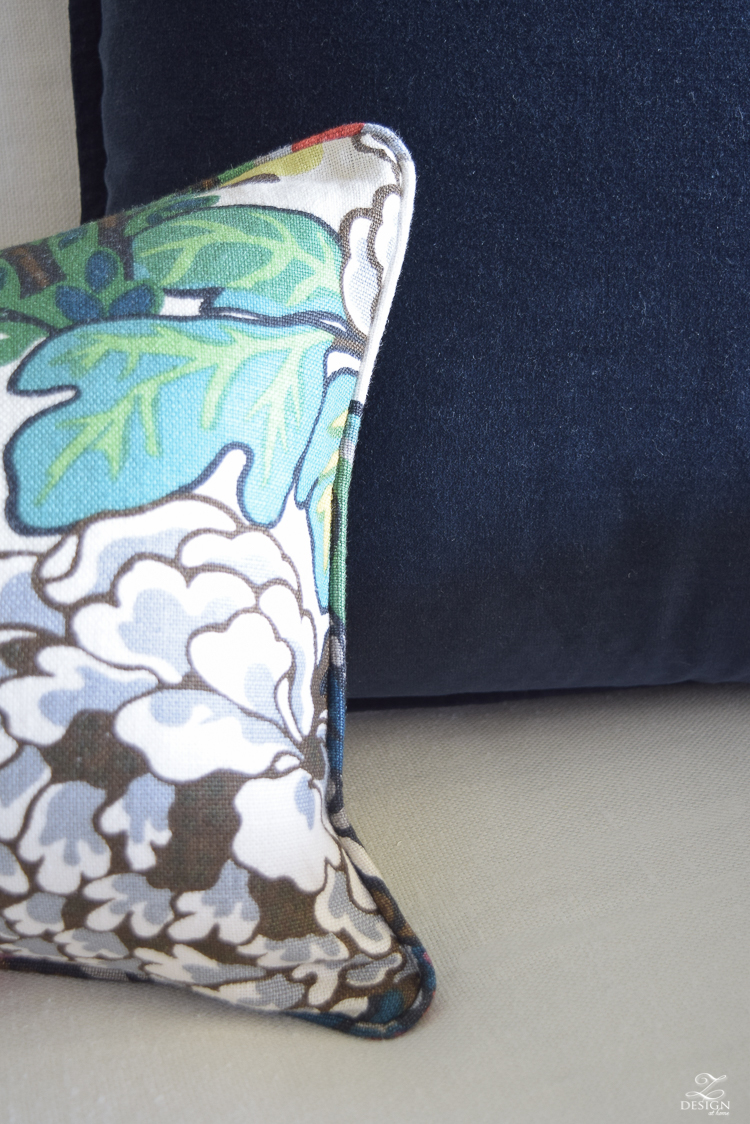 Schumacher Chiang Mai Dragon Fabric for Perfect Pillows-6