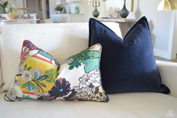 Schumacher Chiang Mai Dragon Fabric for Perfect Pillows