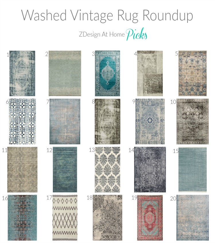 Washed Vintage Rug Roundup