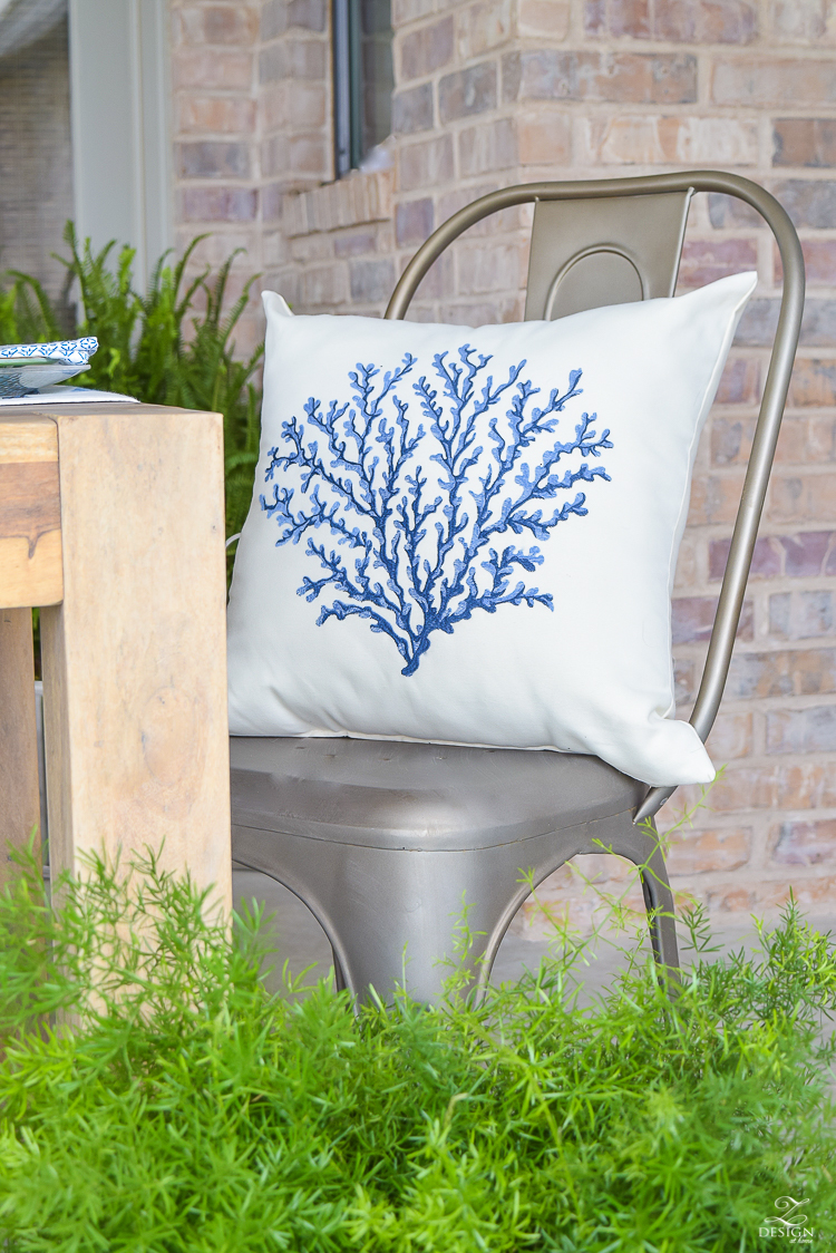 outdoor coral pillow_