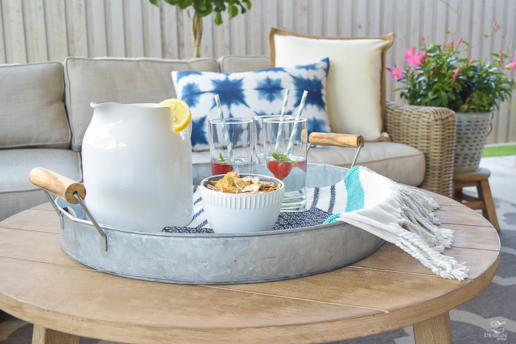 outdoor entertaining metal tray RH provence sectional_