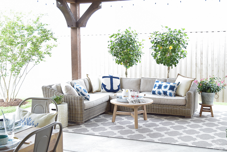 outdoor entertaining space RH Provence Sectional