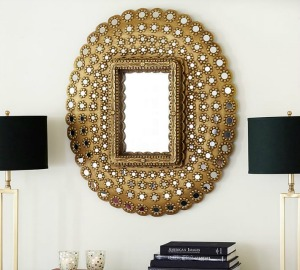 pottery barn peacock-mirror-o