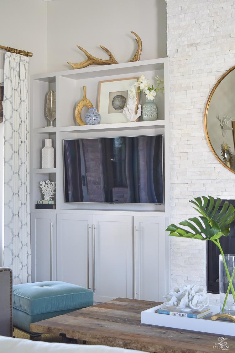 shelf styling summer living room-6