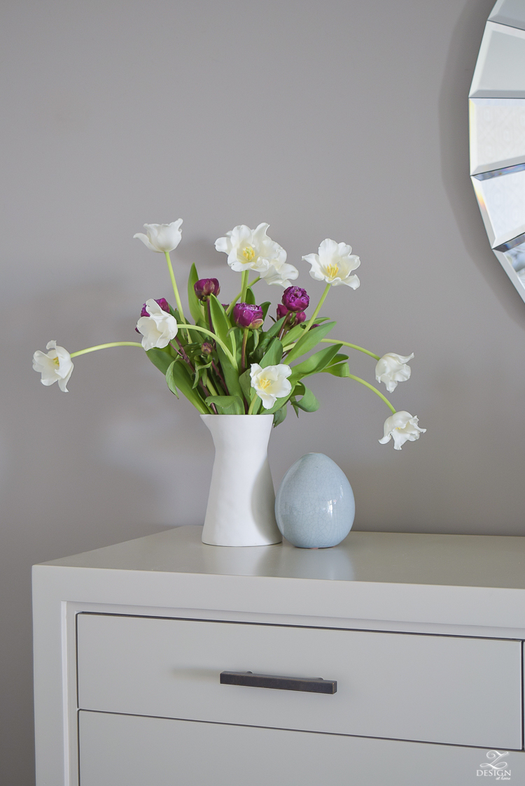 white tulip purple peonies flower arrangement-4