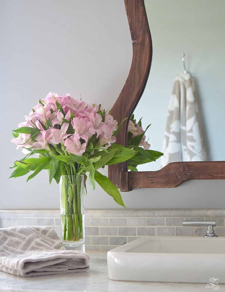 flowers on the bathroom vanity -1