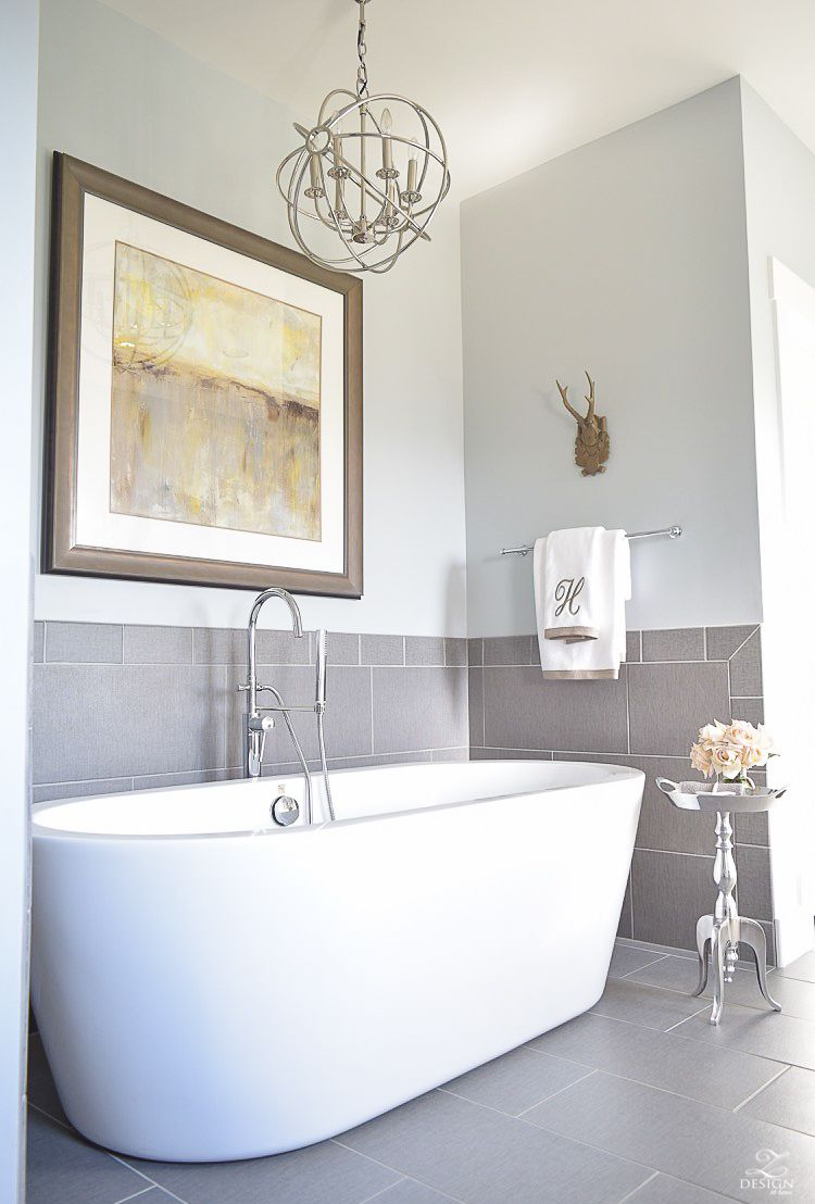 free standing tub transitional neutral bathroom benjamin moore silver lake-1