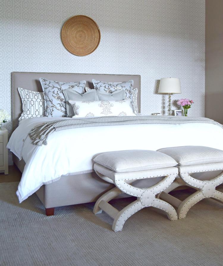 neutral master bedroom white bedroom