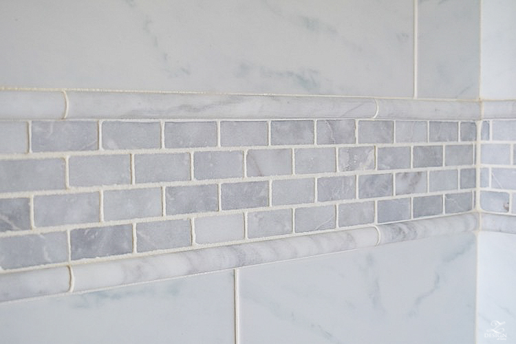 white carrara marble 1x2 white marble shower-1