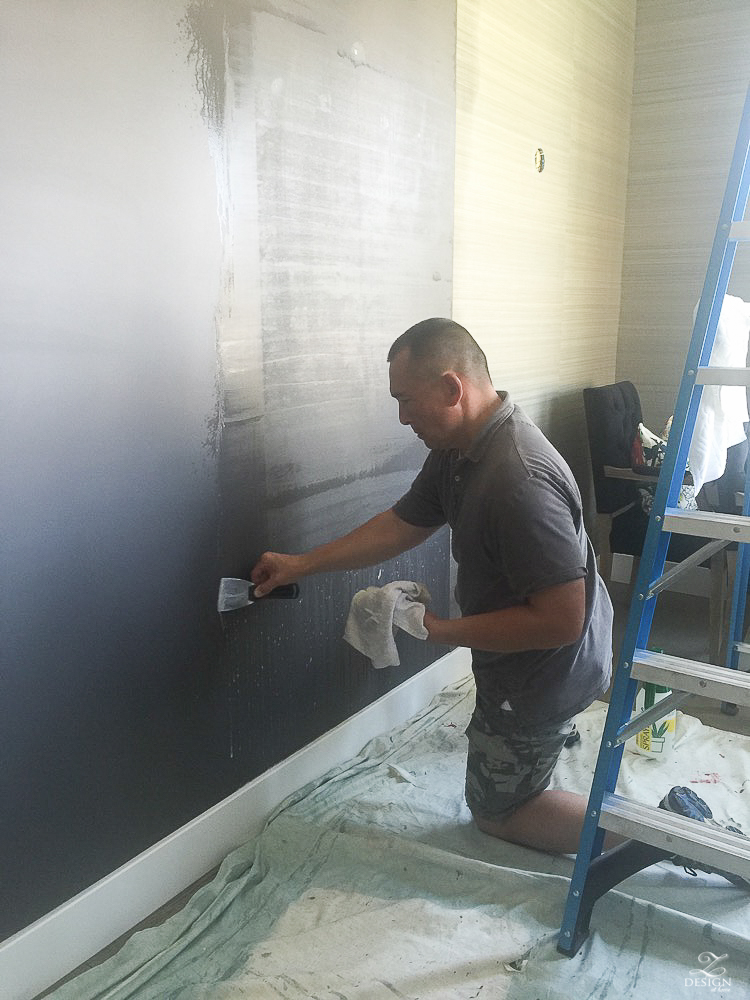 wall paper being removed