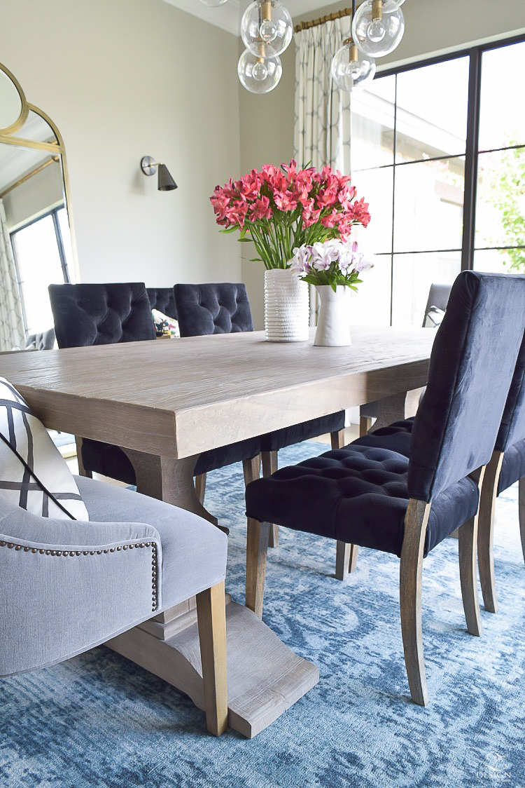 Restorarion Hardware Dumont Dining Table Black Tufted Chairs Rh Modern Gary Friedman Restoration Throughout Room Tables