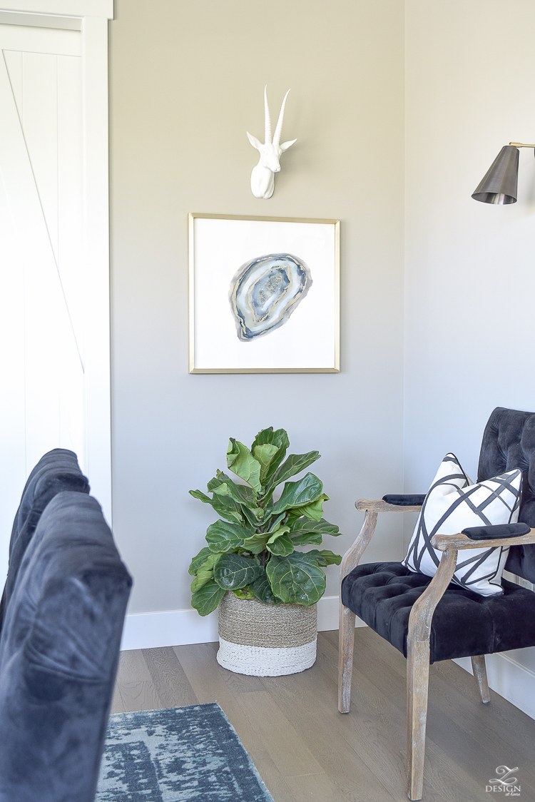 Transitonal Dining Room with Minted Art-2