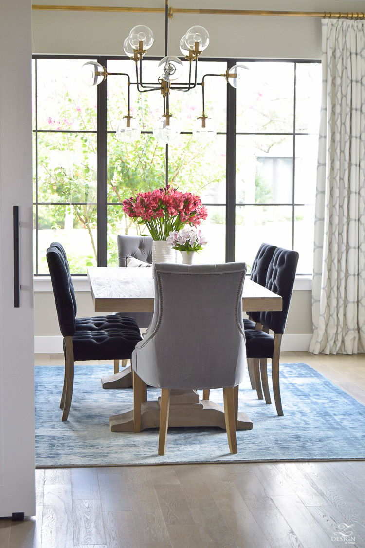 transitional modern dining room
