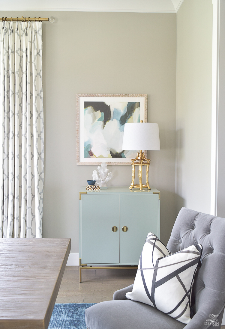 dining room reveal minted art aqua bar cabinet