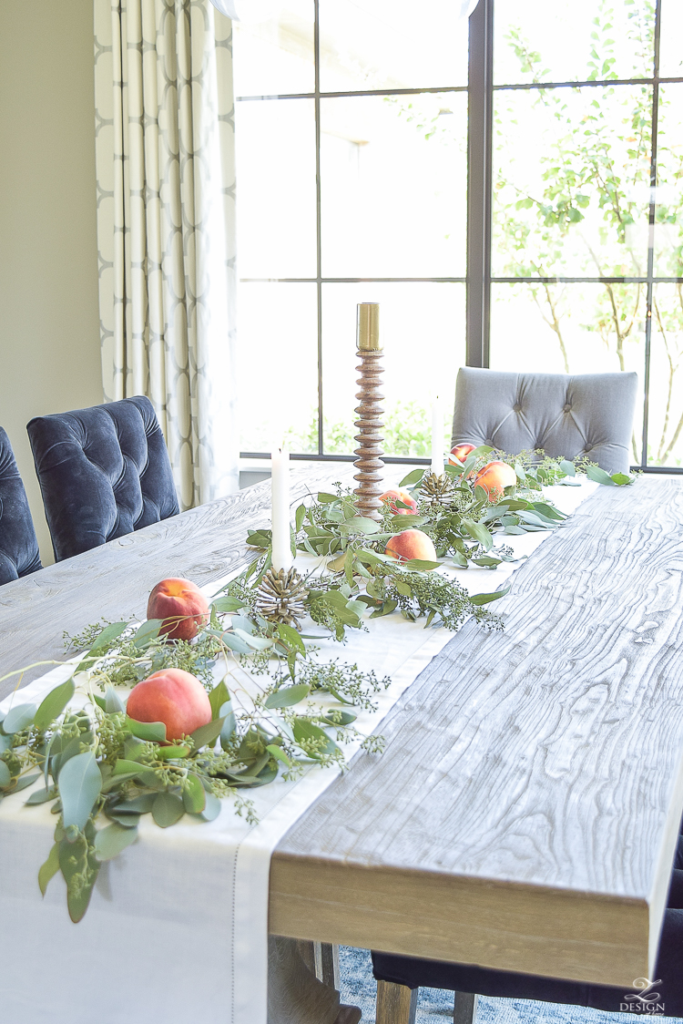 easy-fall-table-centerpiece-with-seeded-eucalyptys-and-peaches-7