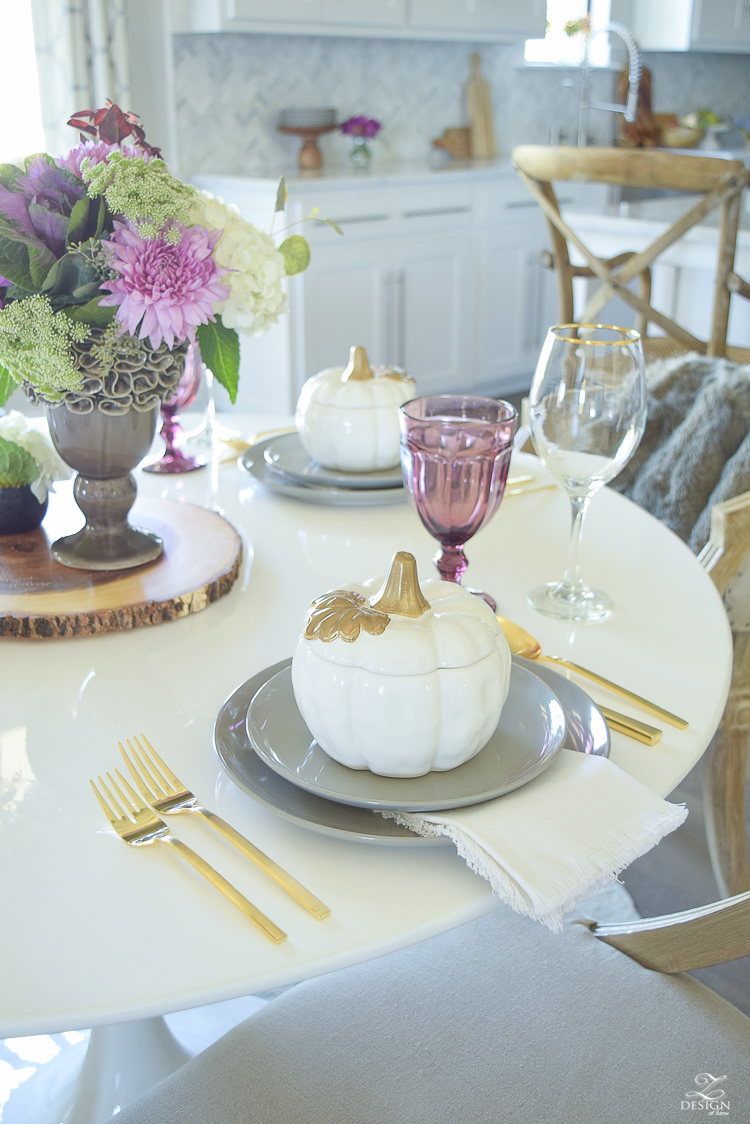 A fresh approach to fall zdesign at home Modern fall table decorations