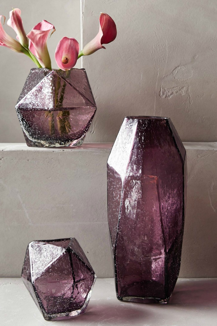 purple-plum-colored-faceted-blown-glass-vases
