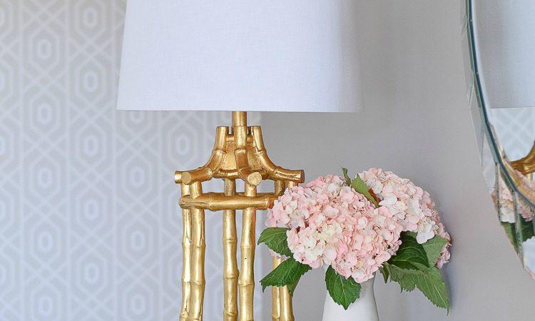Horchow Golden Bamboo Lamp CF