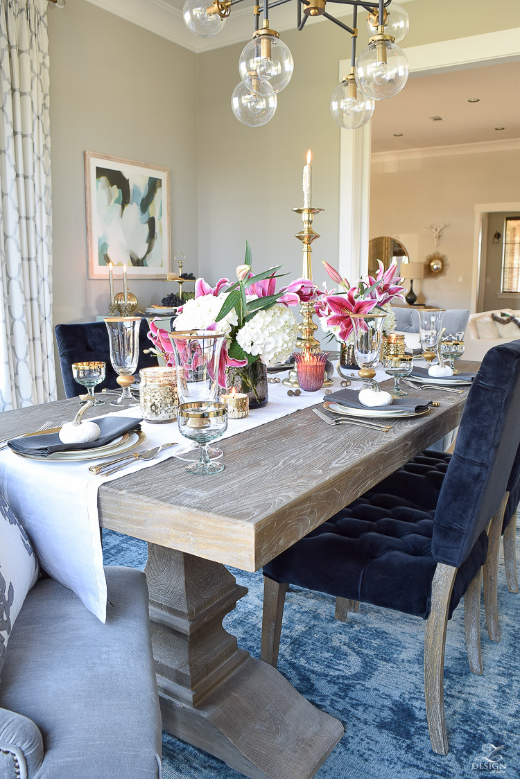 A Rustic, Elegant Thanksgiving - ZDesign At Home