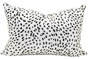 celestial night pillow dalmation dot pillow black and white dot pillow