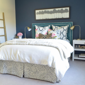 Cozy Chic Guest Room Retreat Updates with a feminine twist