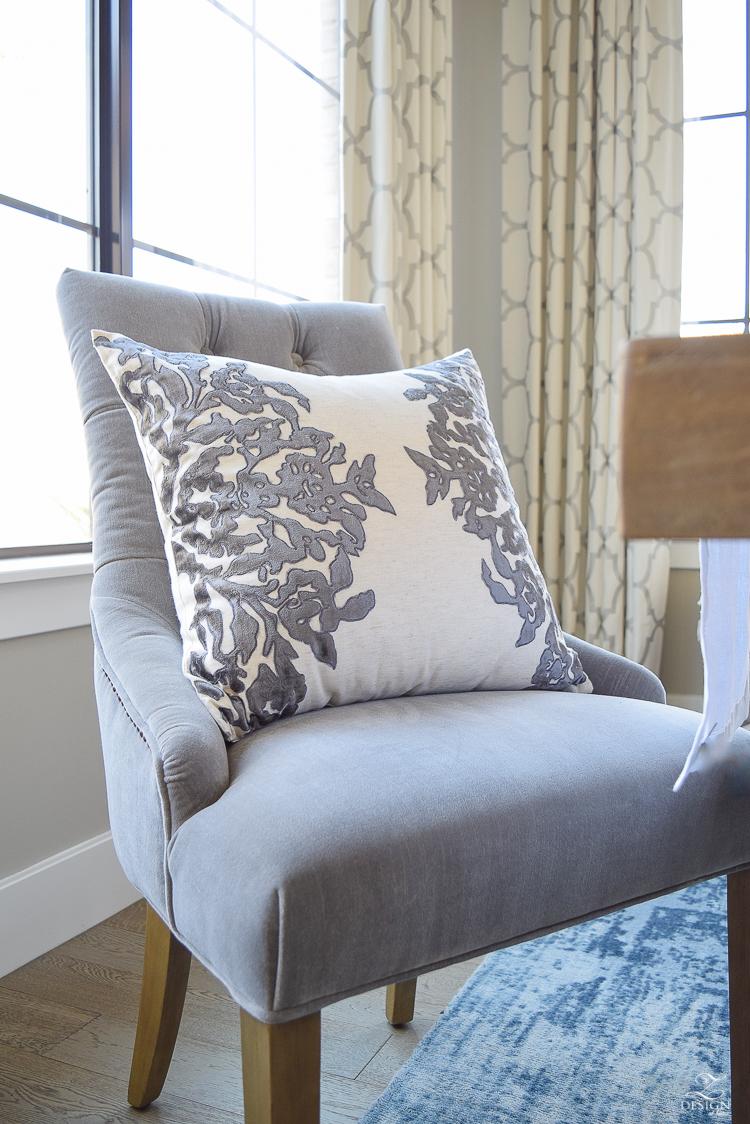 gray-velvet-dining-chair-velvet-vining-pillow-kravet-riad-curtains-in-white-1