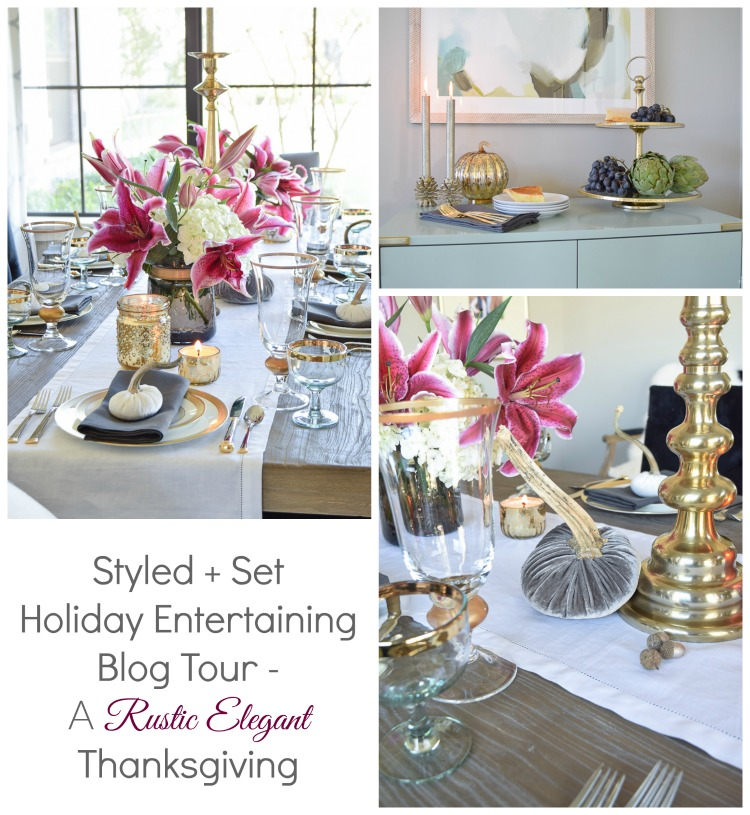 styled and set holiday entertaining blog tour