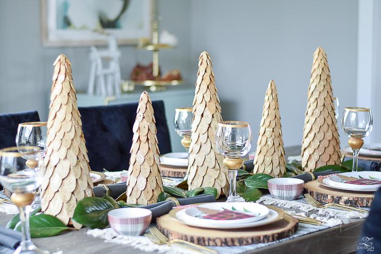 christmas-home-tour-wooden-christmas-trees-plaid-bowls-rustic-gray-table-1