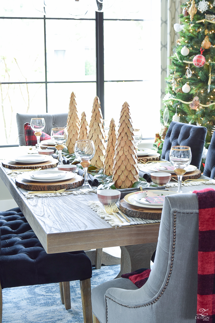 christmas-home-tour-wooden-christmas-trees-plaid-bowls-rustic-gray-table-3