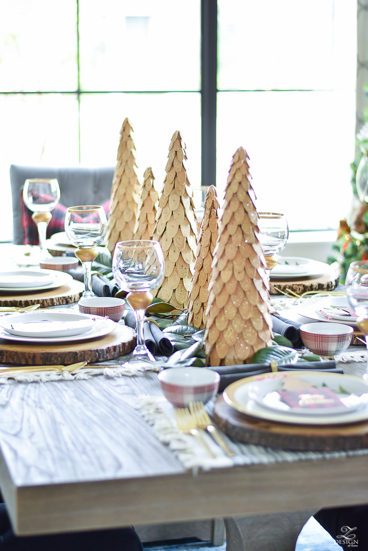 hristmas-tour-wood-themed-table-setting-plaid-bowl-magnolia-garland-black-tufted-chairs-3
