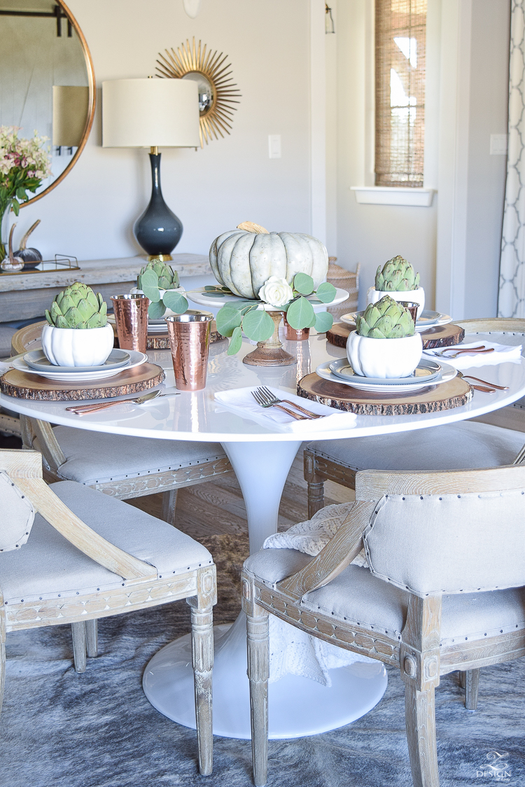 simple-thanksgiving-table-scape-copper-flatware-pumpkin-centerpiece-white-tulip-table-2